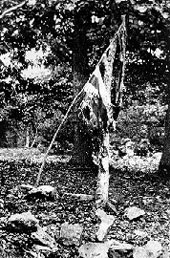 Flag following the battle
